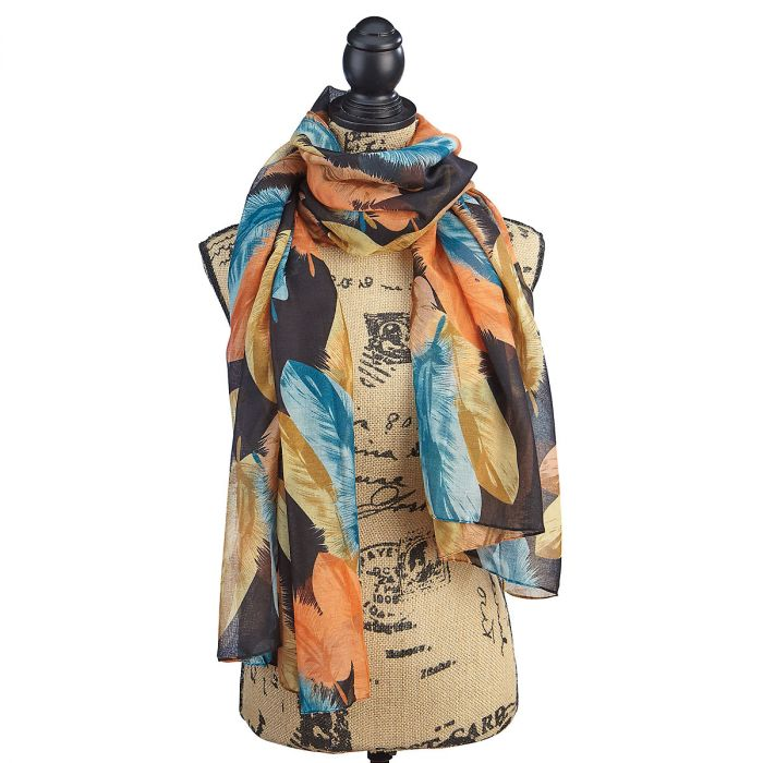 Feathers Colorful Scarf
