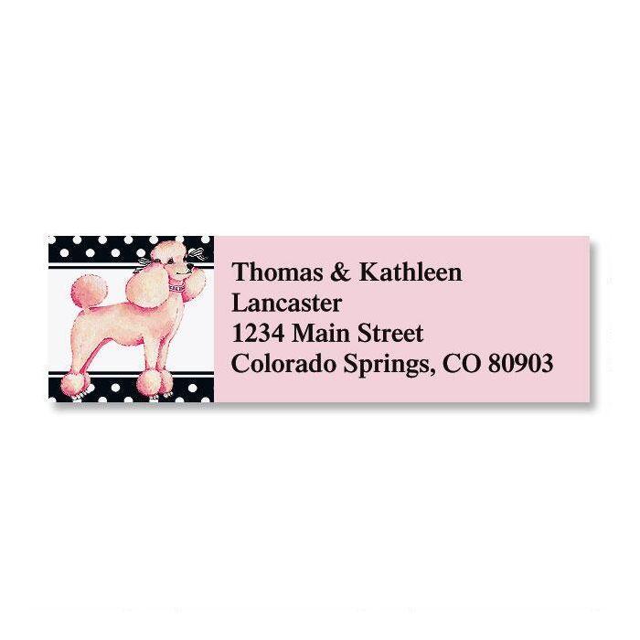Pink Poodle Classic Return Address Labels