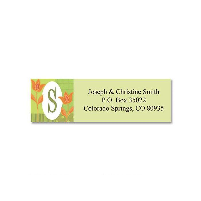 Valley View Initial  Classic Return Address Labels