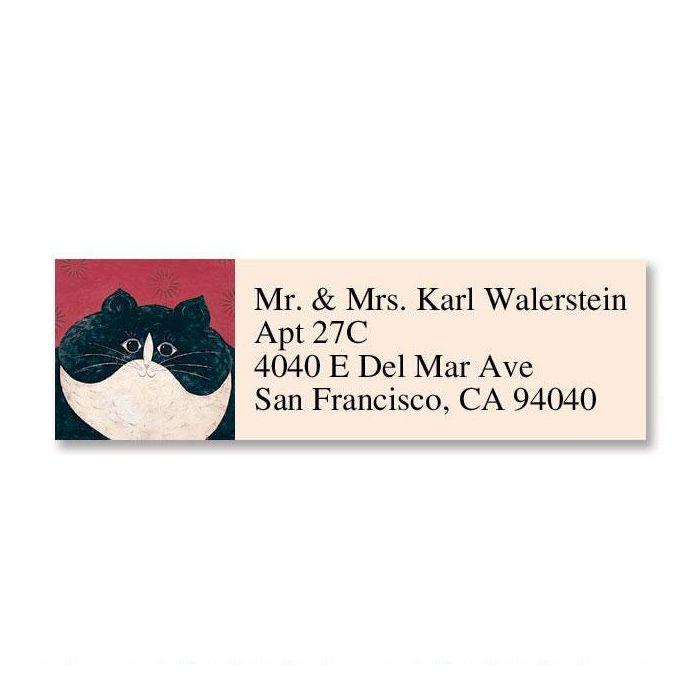 Kitty Classic Return Address Labels by Warren Kimble