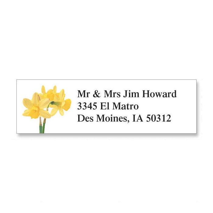 Daffodil  Classic Return Address Labels