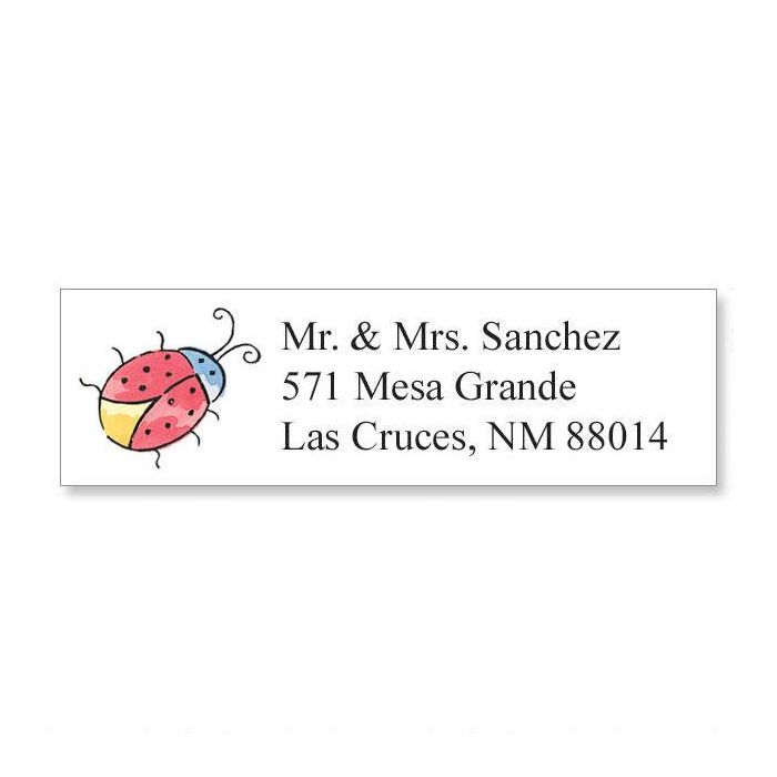 Ladybug Classic Return Address Labels