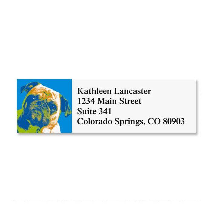 Pop Art Puppies Classic Return Address Labels