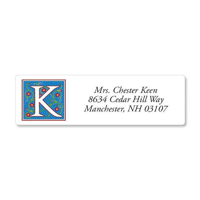 Nabel Monogram Classic Return Address Labels