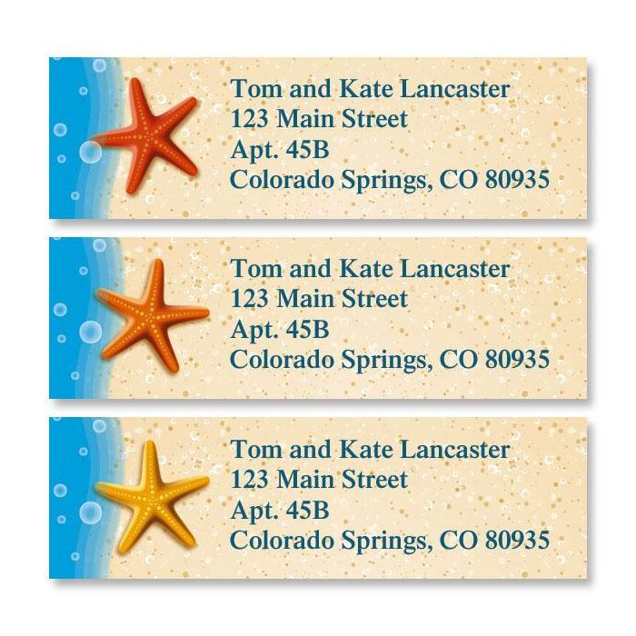 Starfish Trio Classic Return Address Labels  (3 Designs)