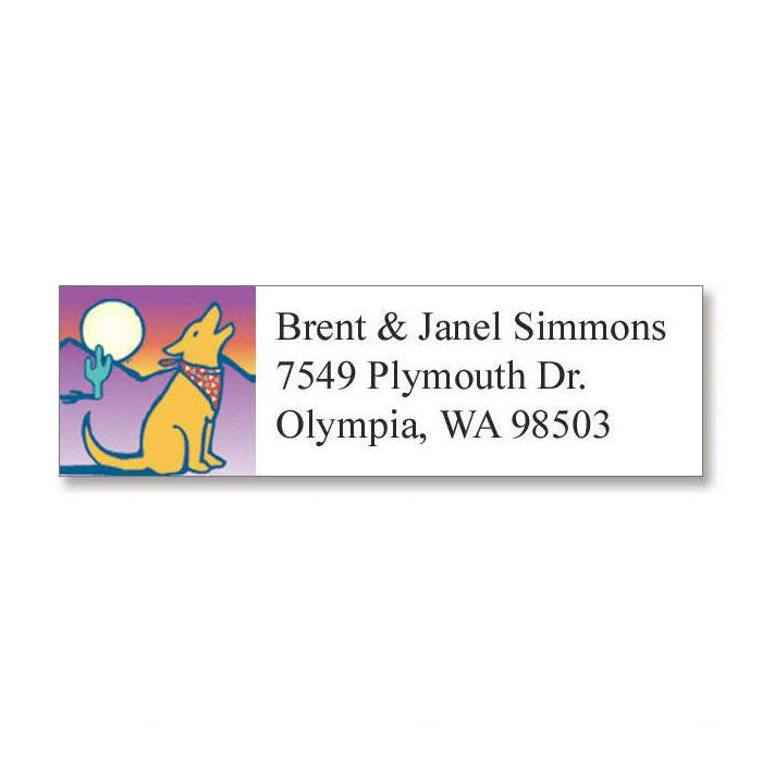 Howling at the Moonlight  Classic Return Address Labels