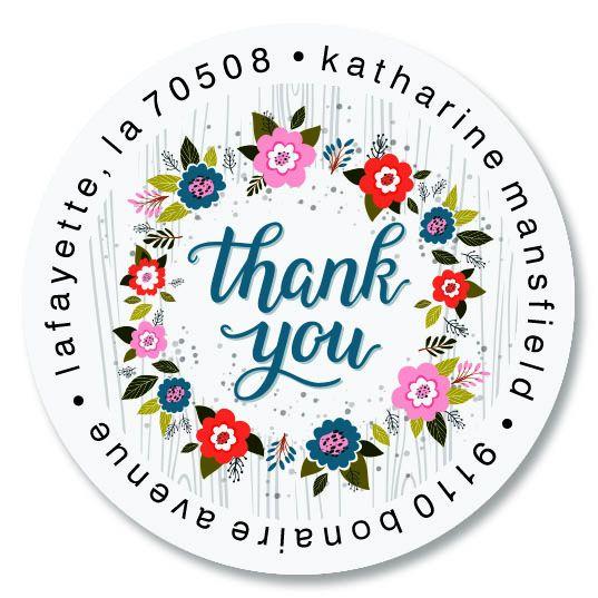 Thank You Round Return Address Labels