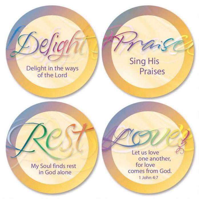 Faithful Words Envelope Seals  (4 Designs)