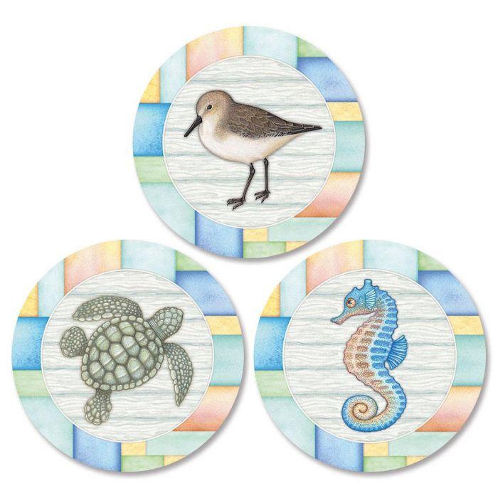 Sea Creatures Envelope Seals   (3 Designs)