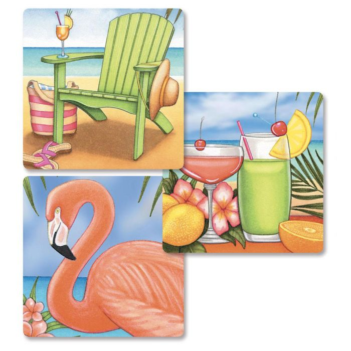 Bahama Breeze Envelope Seals   (3 Designs)