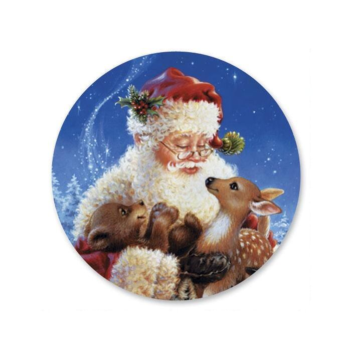 Santa's Friends  Envelope Seals
