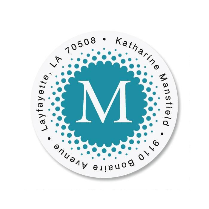 Sweet Spot Initial Round Address Labels