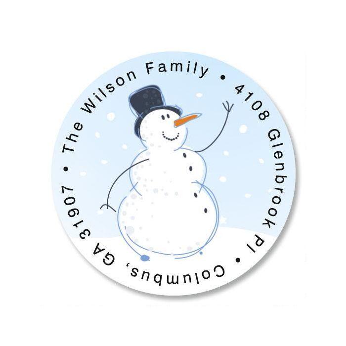 Holiday Sparkle Round Return Address Labels