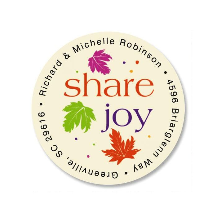 Touch of Fall  Round Return Address Labels