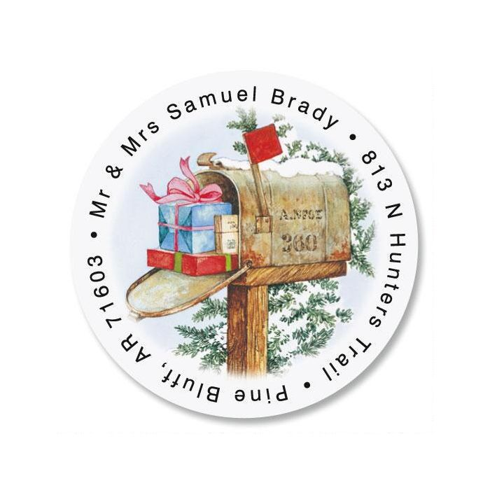 Our House to Yours Round Return Address Labels