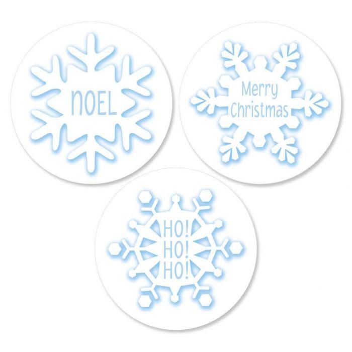 Snowflake Envelope Seals  (3 Designs)