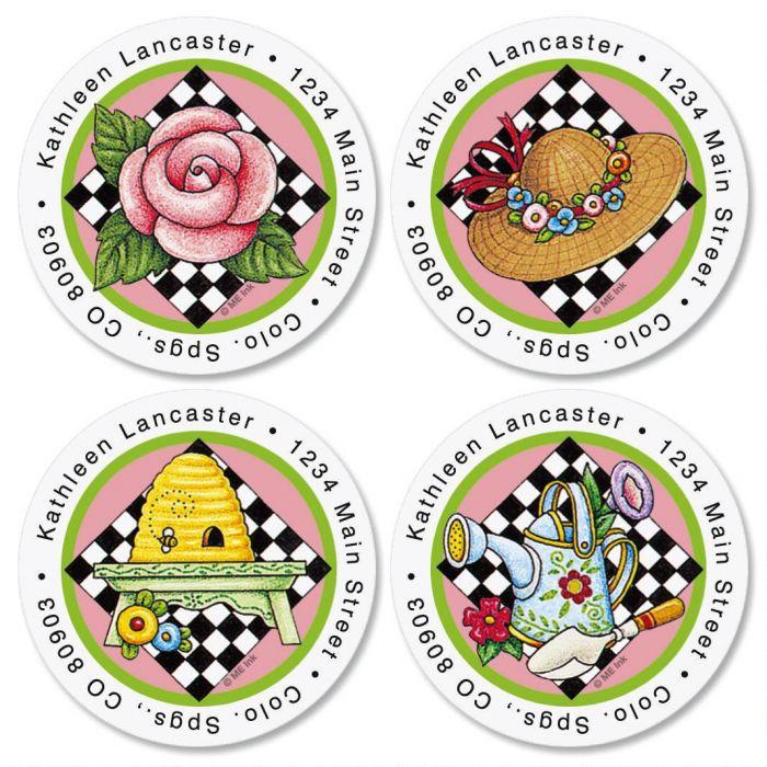 Mary Engelbreit® Round Return Address Labels  (4 Designs)