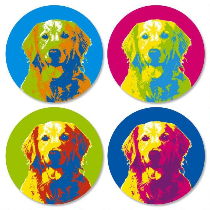 Pop Art Puppies Envelope Seals