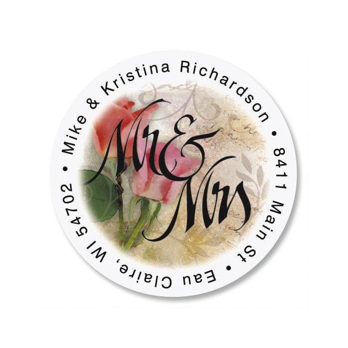 Mr. & Mrs. Round Return Address Labels