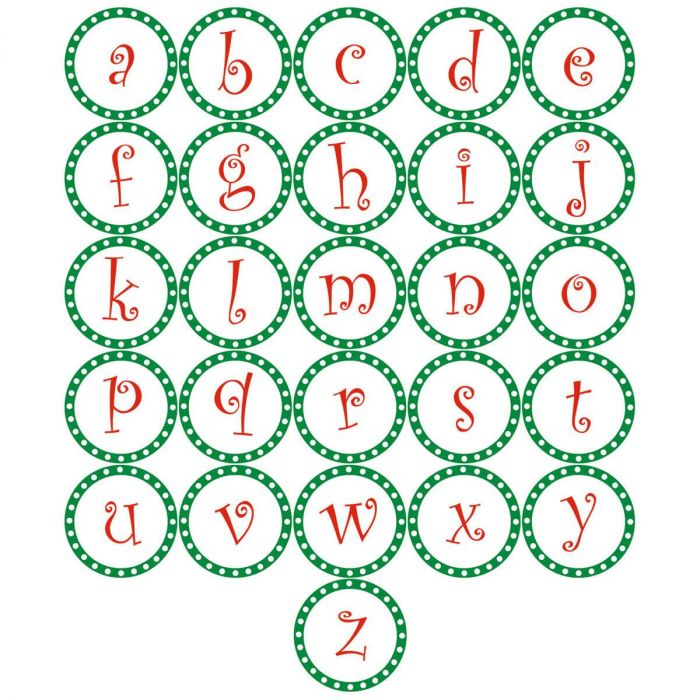 Christmas Dots Initial Round Return Address Labels
