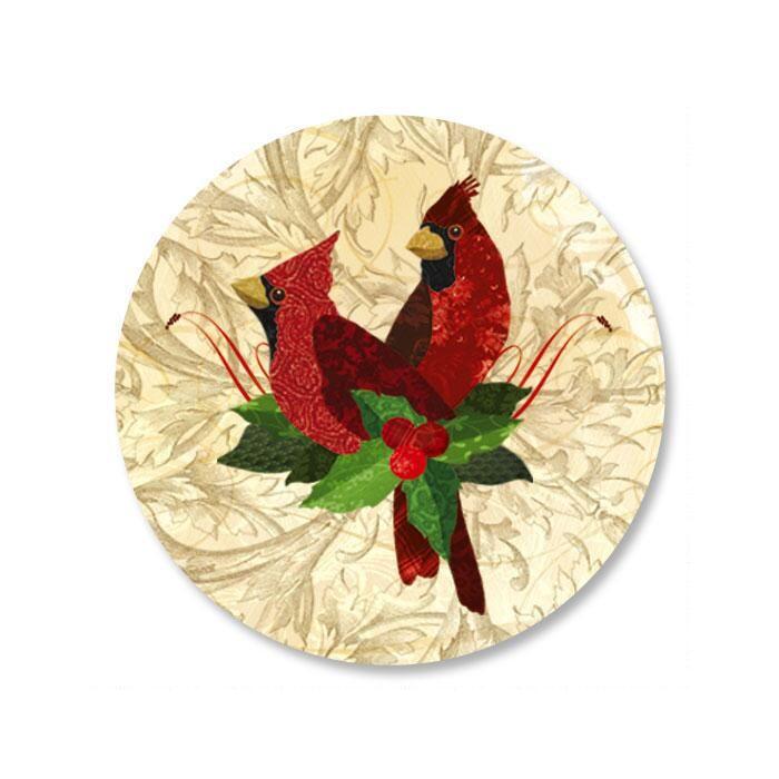 Holiday Cardinals Envelope Seals