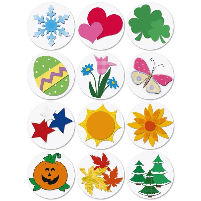 Year Round Envelope Seals  (12 Designs)