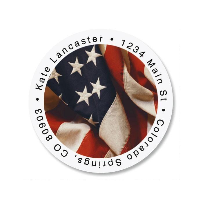 USA Round Return Address Labels