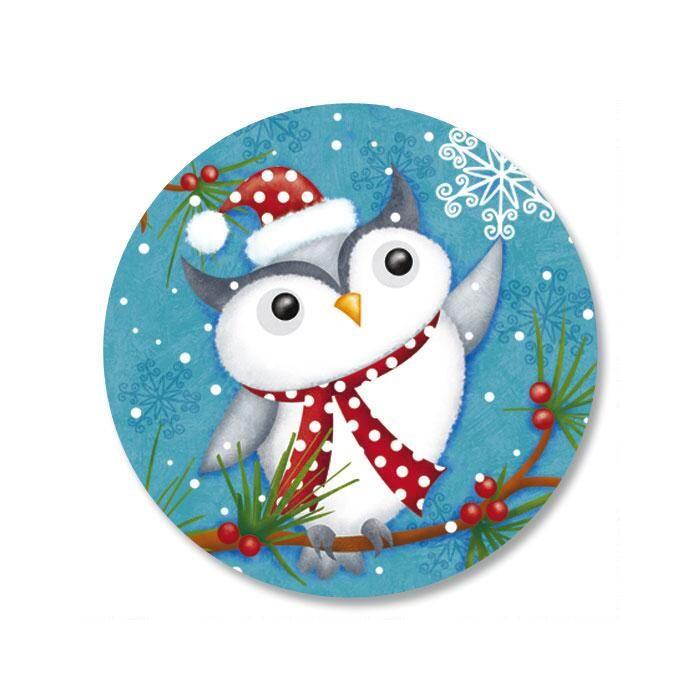 Happy Holiday Owl Envelope Seals