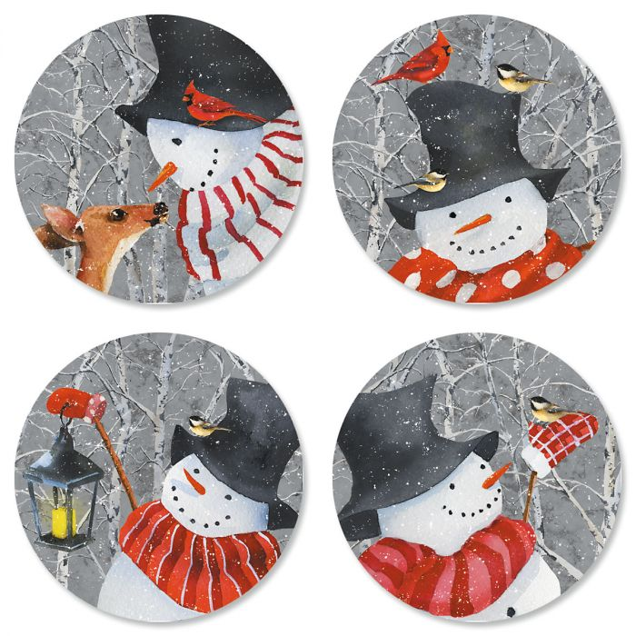 Snowy Friendship Envelope Seals (4 Designs)