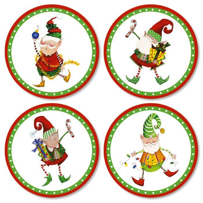 Christmas Elves Envelope Seals (4 Designs)