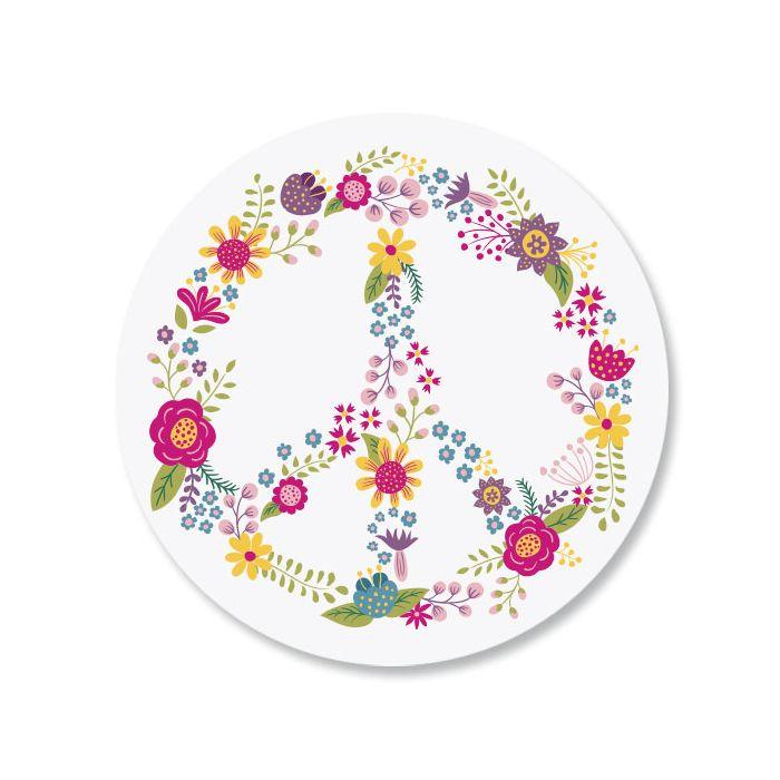 Peace Flower Envelope Seals