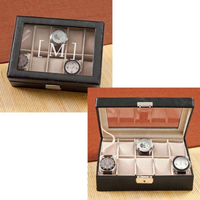 Men's Initialed Watch Box