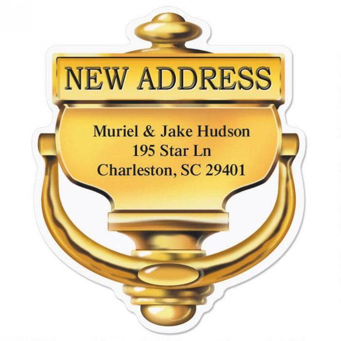 New Home Diecut Return Address Labels