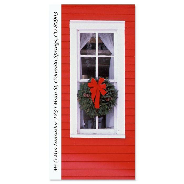 Christmas Window Supersized Return Address Labels