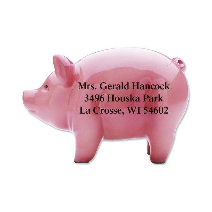 Li'l Piggie Diecut Return Address Labels
