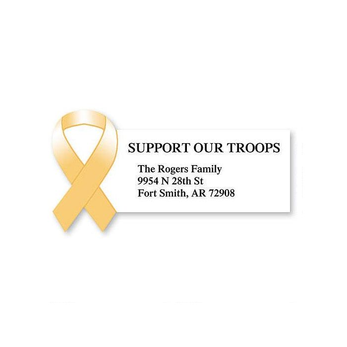 Support our Troops  Diecut Return Address Labels