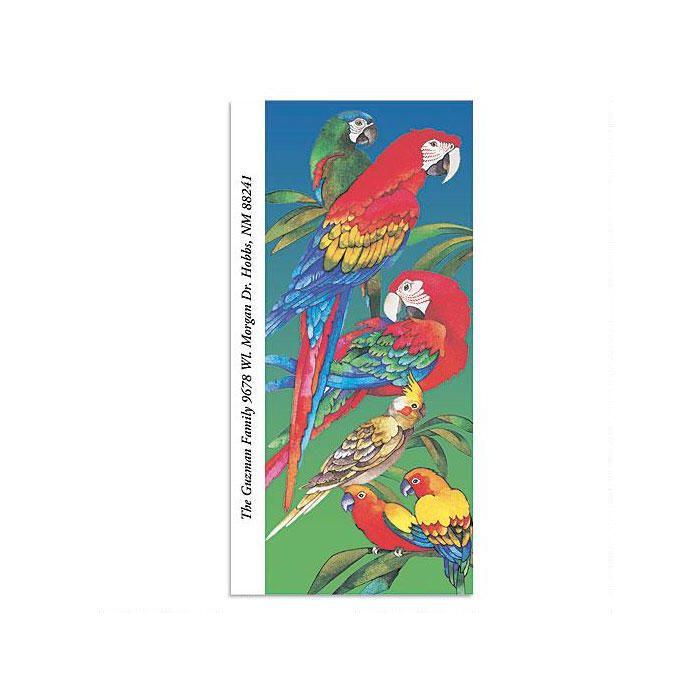 Parrots Oversized Return Address Labels