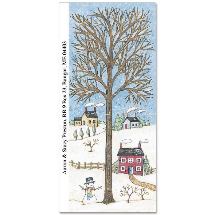 Wintry Season Supersized Return Address Labels