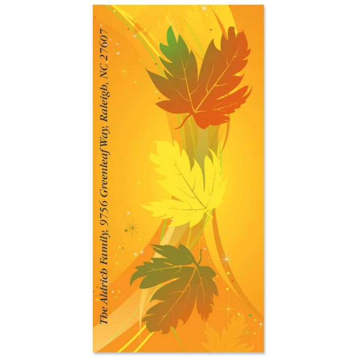 Leaves of Fall Oversized Return Address Labels
