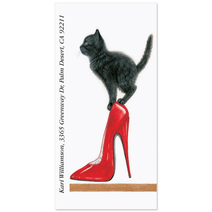 Red Heel Oversized Return Address Labels
