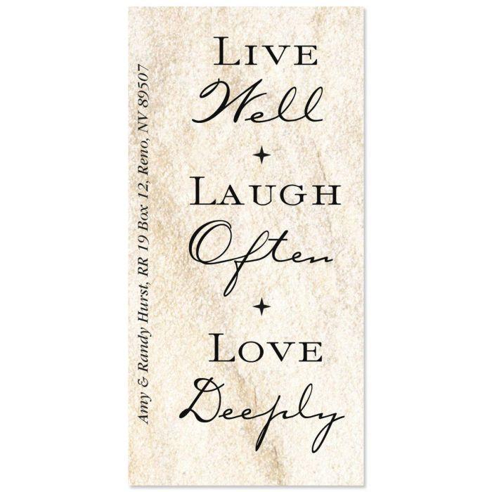 Live, Love, Laugh Oversized Return Address Labels