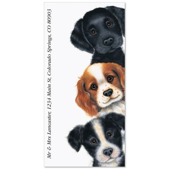 Peeping Pups Oversized Return Address Labels