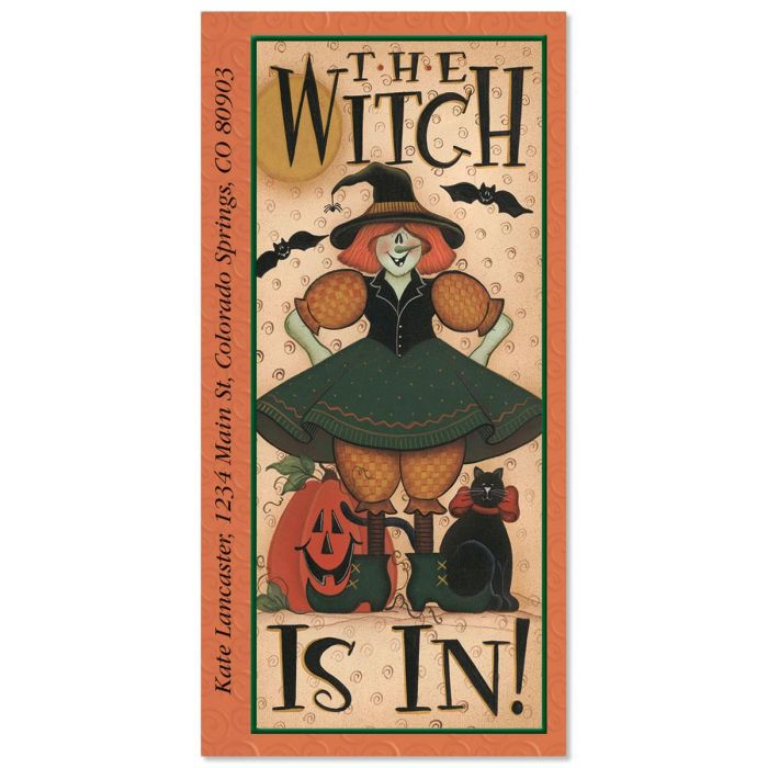 The Witch Is In   Oversized Return Address Labels