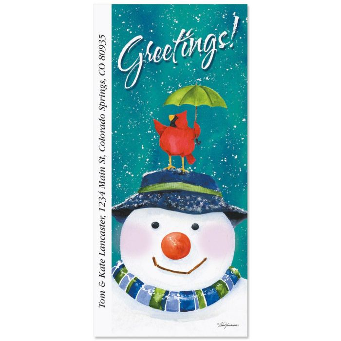 Snow in the Forest Supersized Return Address Labels