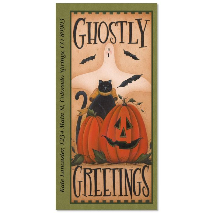 Ghostly Greetings Oversize Address Labels