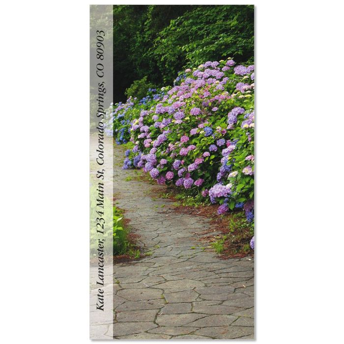 Hydrangea Path Oversized Return Address Labels