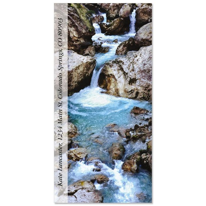 Forest Waterfall  Oversized Return Address Labels