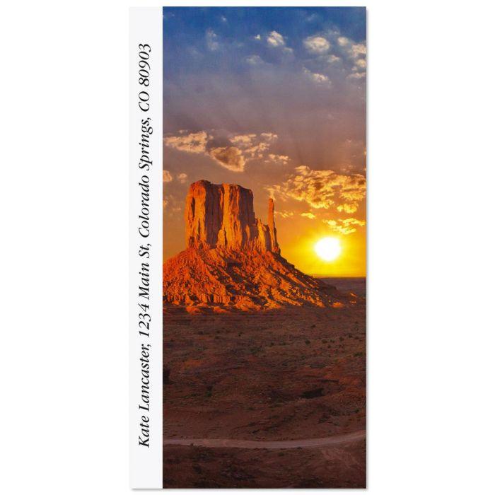 Monument Valley Oversized Return Address Labels