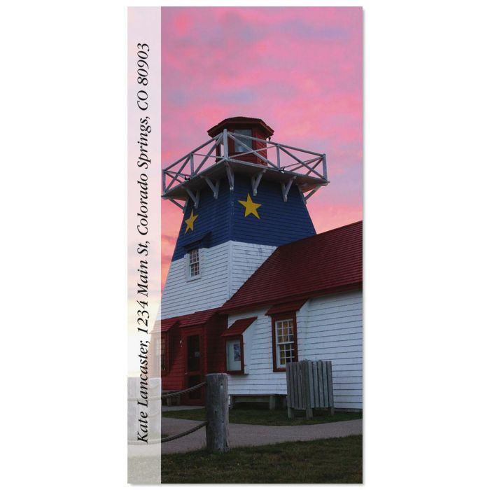 Grande Anse Lighthouse Oversized Return Address Labels