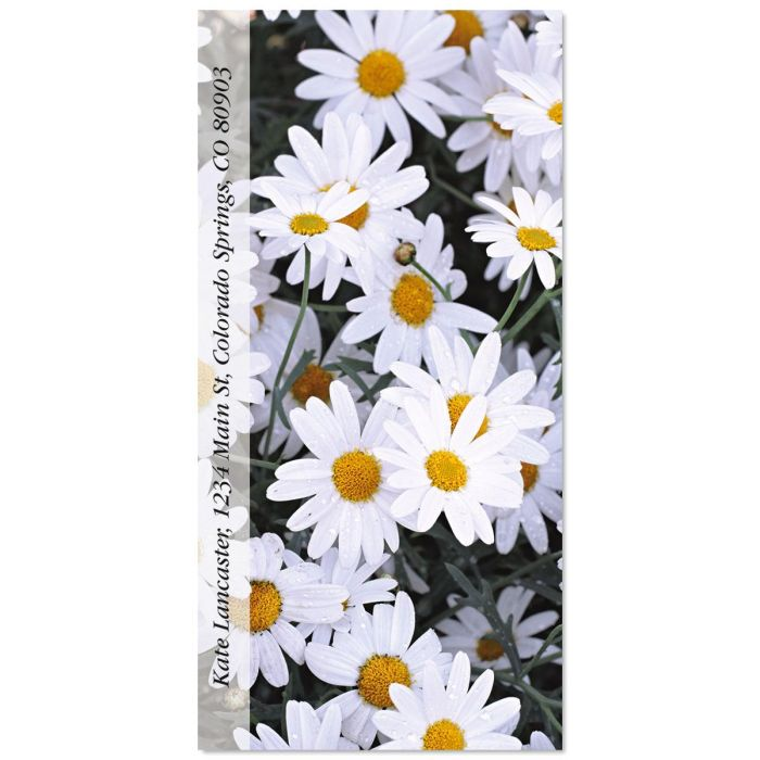 Daisies Oversized Return Address Labels